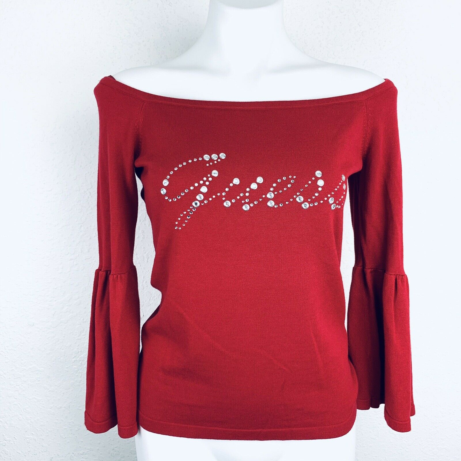 Guess Women's Long Sleeve Beatrice Off Shoulder Sweater