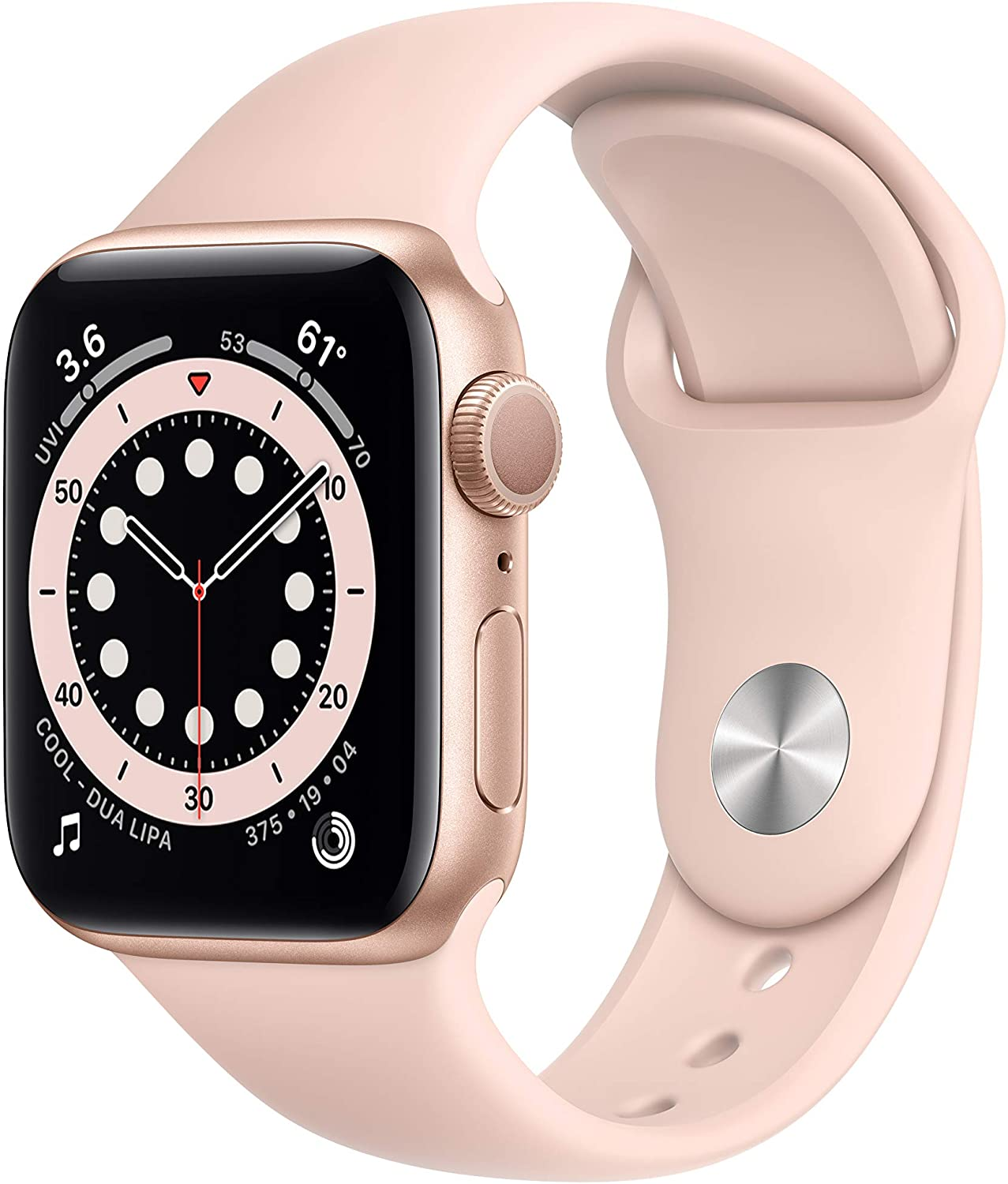New Apple Watch Series 6 (GPS, 40mm) – Gold Aluminum Case with Pink Sand Sport Band